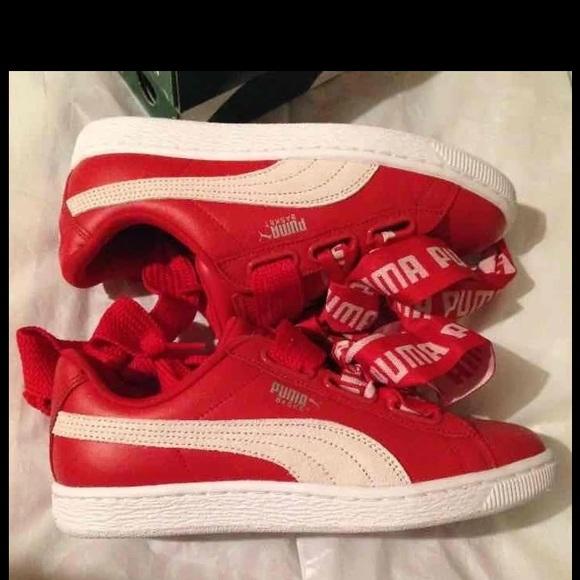 Puma Shoes | New Puma Basket Heart Bow